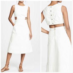 Current/Elliot NWT The Nightfall Dress White Mediu